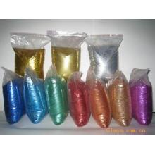 Glitter en polvo de color láser de plata hecho de película de mascotas