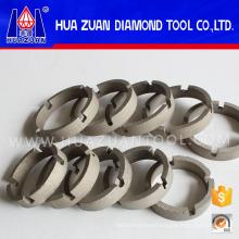 Crown diamond segment for core drill