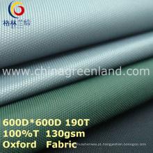 Tela 100% branca de tingidura da planície do poliéster para a barraca de matéria têxtil (GLLML273)