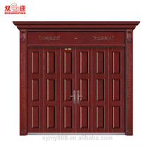 China suppliers commercial luxury old looking copper bronze door modern steel doors villa gate door