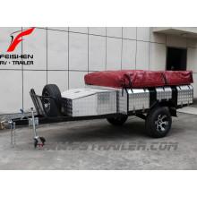 Heißer Verkauf!!! 7ftx4ft off Road Zeltanhänger SF74T verschweißt voll mit Wohnwagen Zelt