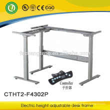 Electric height adjustable table with powder coated