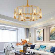 Decorative Contemporary luxury decorative Gold Metal frame Chandelier Pendant Lamp