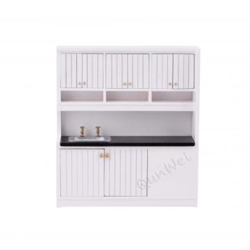 Best-Selling for Dollhouse Furniture Set Dollhouse miniature kitchen cabinets kit 1/12 scale supply to Germany Factories