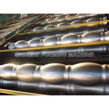 Feuille de rouleau de toiture en métal formant des machines