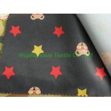 210T impressa poliéster tafetá tecido para toalha de mesa em estoque