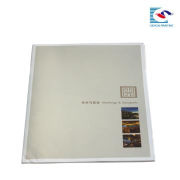 meetings &banquets glue binding brochure printing design