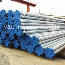 Tuyau en acier galvanisé creux chaud pour la construction