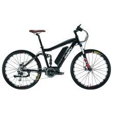 Bicicleta eléctrica de 26 pulgadas con batería oculta montaña grasa neumático