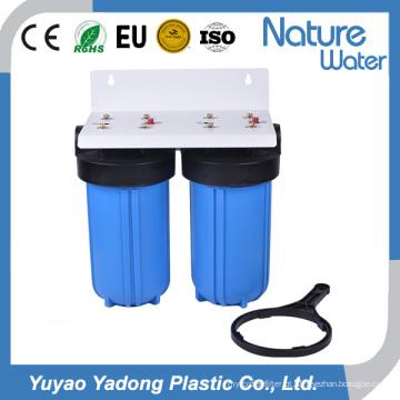 Filtro de água azul grande de 2 fases