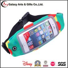 Multi-función Touch pantalla deportes profesionales bolsillos/funcionamiento cinturón elástico Material buceo