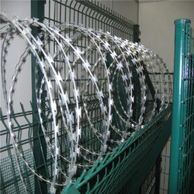 Security fence razor barbed wire combat wire