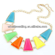 European Style Geometry Colorful Cheap Chunky Necklace