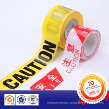 Nueva cinta de advertencia de material PE Barrier para carretera y policía