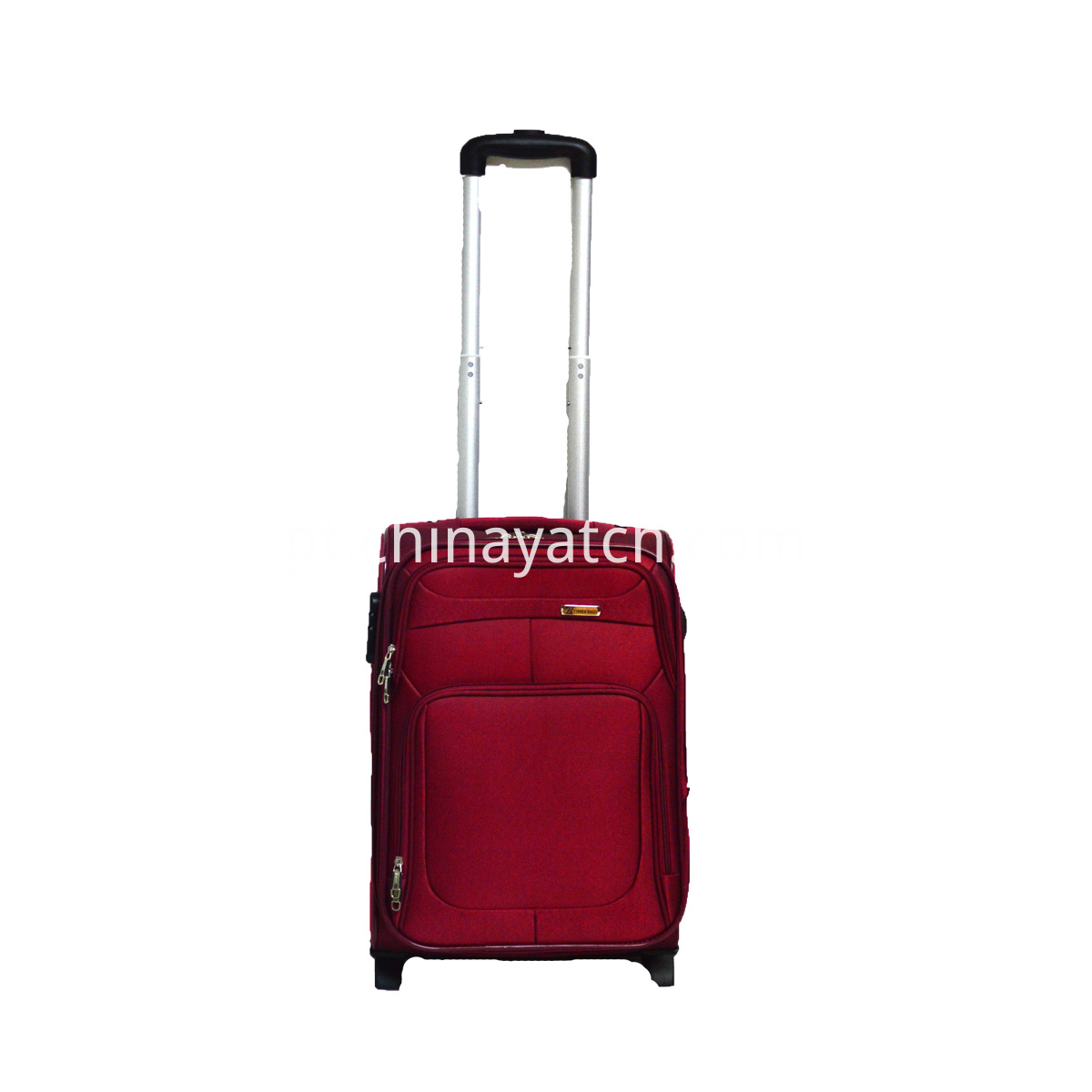 Red Soft Trolley Luggage Set