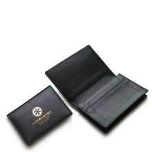 leather namecard holder bifold business stype bag