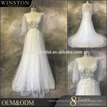 Fábrica chinesa de fábrica, querida, tul, renda, sereia, casamento, vestido