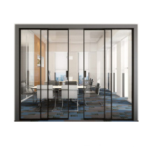 Two Track Narrow Aluminum Frame Sliding Glass Doors