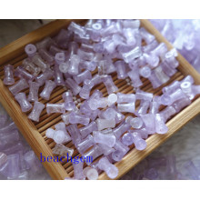 Jewelry Parts-Natural Amethyst Bamboo Beads