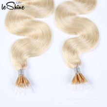 Double Srawn Plastic Stick Human Hair Wholesale Nano Tip Hair Extensions