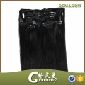 black color cheap afro hair clip in hair extensions for african american