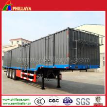 Три оси BPW защиты сухих грузов автофургон
