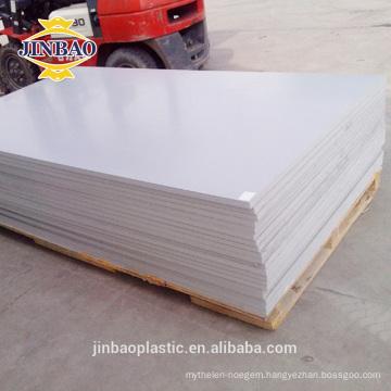 JINBAO hard surface building material 3mm 4mm PVC rigid sheets