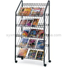 Metal Wire Newspaper Magazine Holder Display Rack