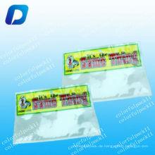 Klarer Plastikfischköderreißverschlußbeutel / Fischenköder-Verpackungsbeutel mit klarem Fenster