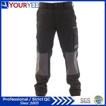 Pantalons de travail noirs personnalisés pour hommes avec genou (YWP112)