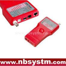 5 em 1 testador de cabos para UTP STP RJ45, RJ11 RJ12, BNC, USB e IEEE1394