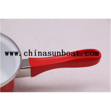 Enamel Mini Single Handle Milk Pot