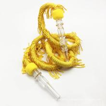 Auspicioso diseño del dragón 1.5m Manguera de goma amarilla de la cachimba de Shisha (ES-HH-002-1)