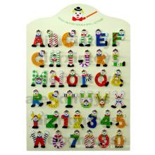 Hölzerne Alphabete & Zahlen mit der Hand Malerei (81461 & 81462)
