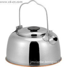 1.0L hot sale stainless steel kettle outdoor camping water kettle