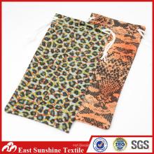 Bolsos de gafas de sol de poliéster de cordón