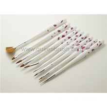 Beauty Cosmetics 9PCS Plastic Handle Nail Arts Makeup Brush Set