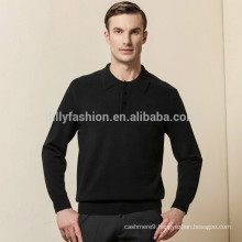 mens cashmere long sleeve polo shirts wholesale china