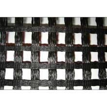 Geomalla revestida del poliester del PVC, geomalla del poliéster que hace punto de la deformación