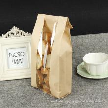 Saco de papel para pão com janela de abertura