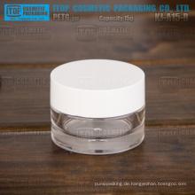 KJ-A15-B 15g trial Größe Werbe zarte süße kleine 0,5 oz dicken Kunststoff Kosmetikverpackungen Container