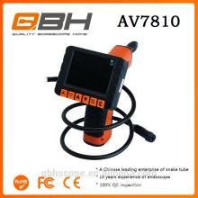Caméra d'inspection de tuyau de chenille imperméable à l'eau de câble de 20 m avec compteur de mètre de caméra d'acier inoxydable de 10 millimètres