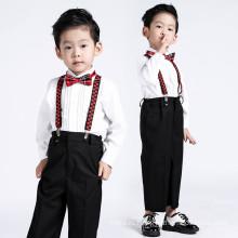 Ручной работы высокое качество дизайнер мода спортивные приталенный Fit Цветочный мальчик комбинезоны для свадьбы