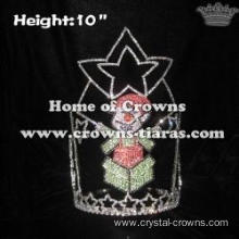 Crystal Rhinestones Elf Happy Christmas Crowns