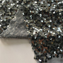 Poly Spandex 5MM Print Sequin Embroidery Fabric