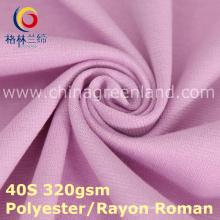 Trama de rayon de poliéster tecido romano de malha para calças vestido (gllml379)