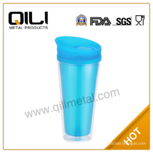 Fashion double wall plastic sport water bottle caps