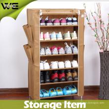 Cabinet de stockage vertical imperméable pliable portatif de chaussure