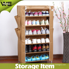 Non-Woven Fabrics Waterproof Dustproof Covered Stackable Shoe Cabinet