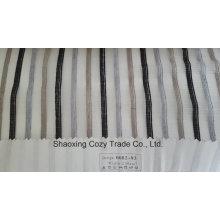 Nouveau tissu de rideau transparent Organza Voile de rayures de projet populaire 008293
